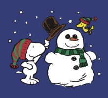 Snoopy Snowman by VintageTeeShirt