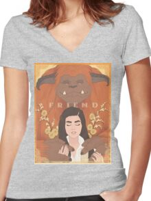 Labyrinth - Ludo, Friend Women's Fitted V-Neck T-Shirt