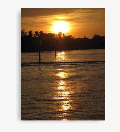 Ocean wake at dusk Canvas Print