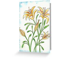 Lily Flowers Greeting Card