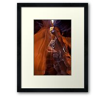 Antelope Canyon Spires Framed Print