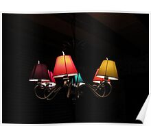 Colourful lamps Poster