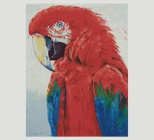 Crimson Macaw by Michael Creese