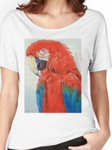 Crimson Macaw Women's Relaxed Fit T-Shirt