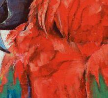 Crimson Macaw Sticker