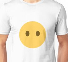 Face without a mouth emoji Unisex T-Shirt