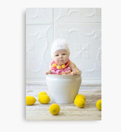 Adorable sour puss Canvas Print