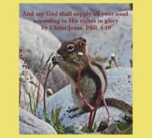 My God Shall Supply Phil. 4:19 Baby Tee