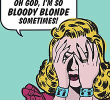 Bloody Blond Pop Art by Spadaro