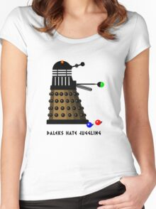 Daleks Hate Juggling... Women's Fitted Scoop T-Shirt
