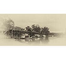 Port of Echuca Old Photographic Print
