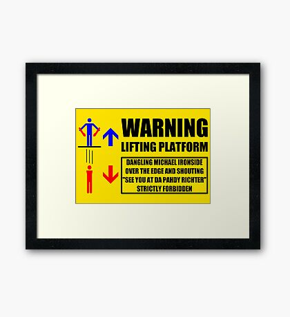 Health And Safety On Mars Framed Print