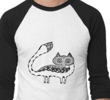 Vulpes Lagopus Black Outlines Men's Baseball ¾ T-Shirt