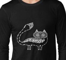 Vulpes Lagopus White Outlines Long Sleeve T-Shirt