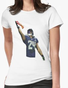 Marshawn Lynch Skittles Womens Fitted T-Shirt