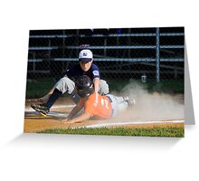Stealing Home Greeting Card