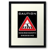 Caution - Necromorph Crossing Framed Print