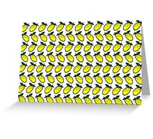 lemon print Greeting Card