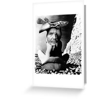 To Be Born on a Beach With Fish. Greeting Card
