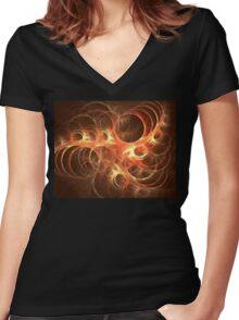 Hemisphere Women's Fitted V-Neck T-Shirt