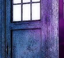 Public Police Box - Dr Who Sticker