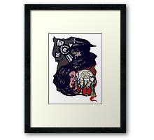 Red Black and White Framed Print