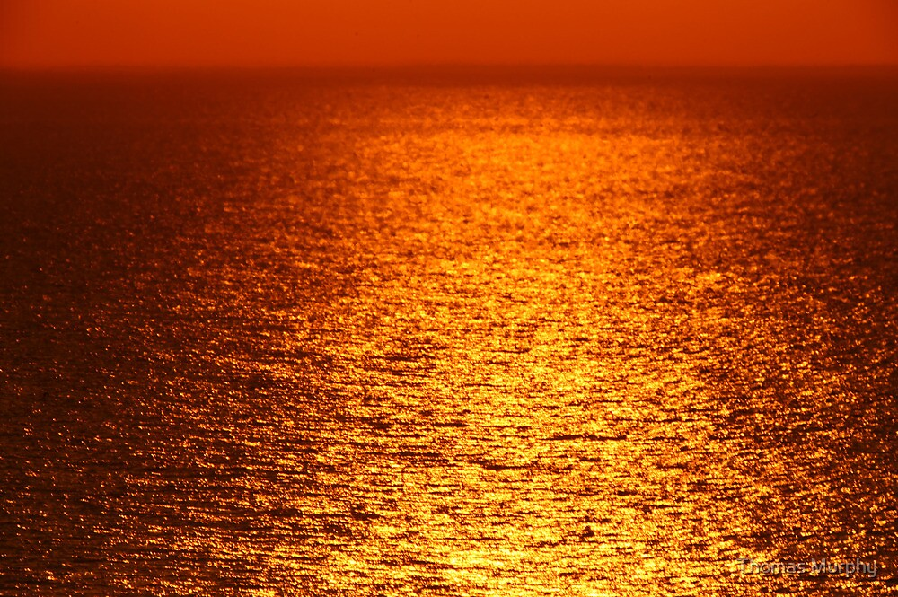 Lake Michigan Sunrise on the Horizon by Thomas Murphy