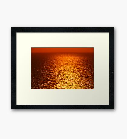 Lake Michigan Sunrise on the Horizon Framed Print