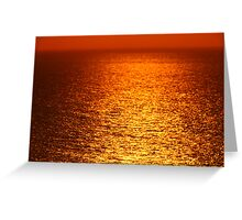 Lake Michigan Sunrise on the Horizon Greeting Card