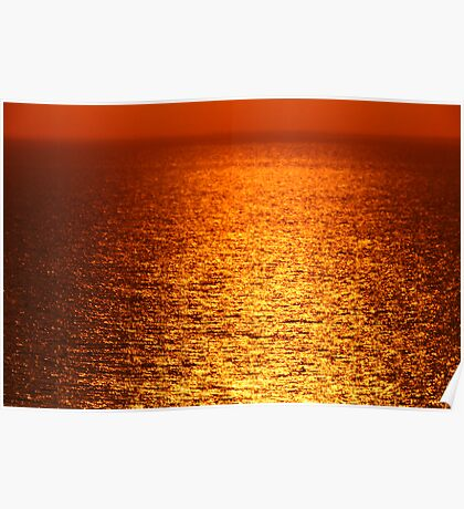 Lake Michigan Sunrise on the Horizon Poster