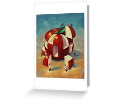 Apple Puzzle by Eric Westbrook Greeting Card