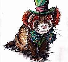 mad hatter ferret by rossillustrate