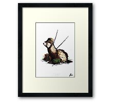 fisher ferret Framed Print