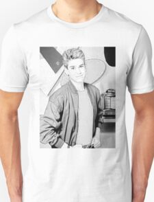 Zack Morris Black and White T-Shirt