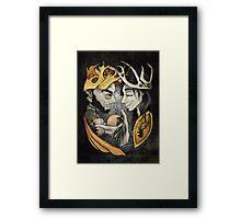 King's Peach Framed Print