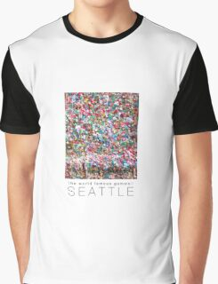 Gum Wall of Seattle # 2 Graphic T-Shirt