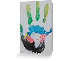 Multicolored Handprint Greeting Card