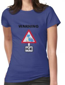Warning! Lapras Ice! Womens Fitted T-Shirt