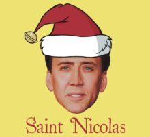 Saint Nicolas Cage Christmas  Kids Tee