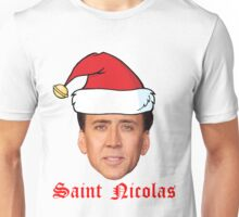 Saint Nicolas Cage Christmas Card Unisex T-Shirt
