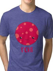 Cute Smiling Pepperoni Tri-blend T-Shirt