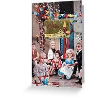 Thunderbirds Christmas, Vintage Collage Xmas Card Greeting Card