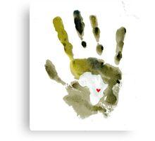 Green Handprint Canvas Print
