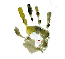 Green Handprint Photographic Print