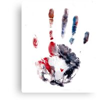 Red and Purple Handprint Canvas Print
