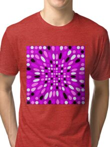 PURPLE MULTI COLORED ABSTRACT DESIGN Tri-blend T-Shirt