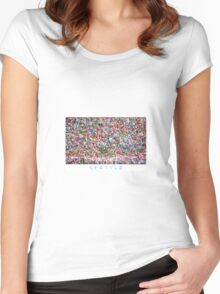 Gum Wall of Seattle # 5 Women's Fitted Scoop T-Shirt