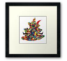 Santa hugging tree Framed Print
