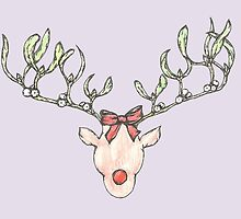 Mistletoe Deer by SerenSketches