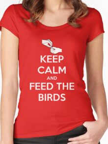 Keep Calm and Feed the Birds Women's Fitted Scoop T-Shirt